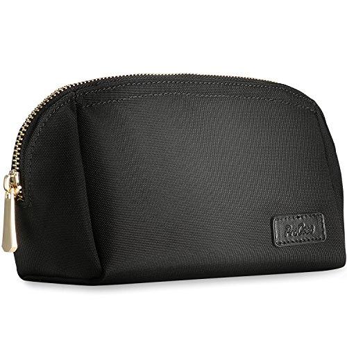 ProCase Cosmeticatasje voor portemonnee, compacte make-up tas box speelruimte accessoires organisator voor cosmetica, huidverzorgingsset, gezichtsreiniger en schoonheidsmateriaal - klein, zwart