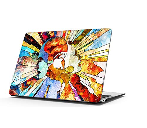 AOGGY Funda MacBook Pro 16 Pulgadas 2020 2019 Versión A2141, Colorful Plastico Cáscara Dura Case para Nuevo MacBook Pro 16 Pulgadas(con Touch Bar y Touch ID) - Pensador