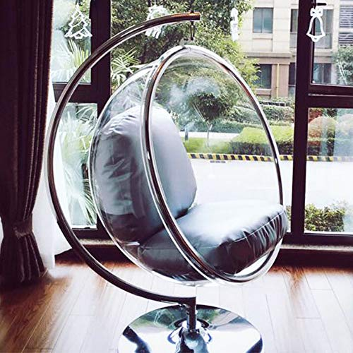 SMGPYHWYP Transparenter Bubble Chair (Glaswiege) Hängender Korb (Stuhl) Innenbalkon Startseite Hemisphere Chair Space Chair Swing Chair
