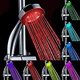 Cabeza de ducha, ducha de mano, LED de alta presión de la pantalla ducha masaje ducha ducha, Handheld ducha Economizador de agua Ducha de plata