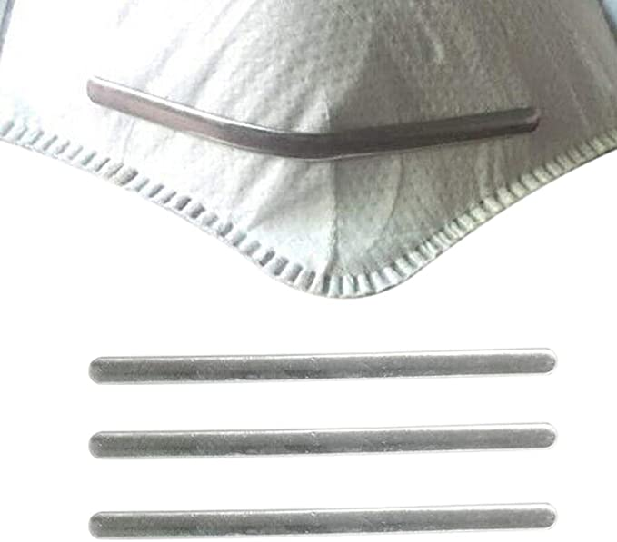 Metal Nose Strip for Masks Aluminum Nose Strip Nose Bridge Strip for Face Masks 100Pcs Metal Strips Straps Adjustable Nose Clips Mask Wire Face DIY Making Accessories for Sewing Crafts,