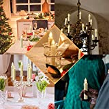 30er LED Weihnachtskerzen Kabellos, Warmweiß Christbaumkerzen Kabellos, led kerzen weihnachtsbaum, IP64, für Weihnachtsbaum, Weihnachtsdeko. mit Batterie Fernbedienung, LED Lichterkette Kerzen. - 4