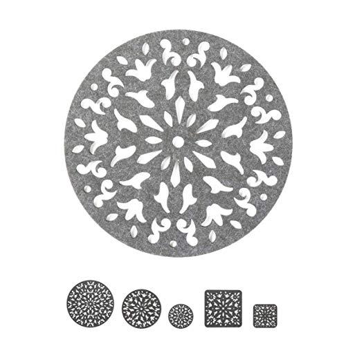 luxdag Filzuntersetzer für Gläser, Schalen oder Vasen, grau (Farbe & Größe wählbar)