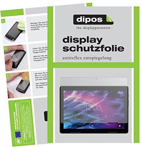 dipos I 2X Schutzfolie matt kompatibel mit Medion Lifetab E10604 Folie Bildschirmschutzfolie