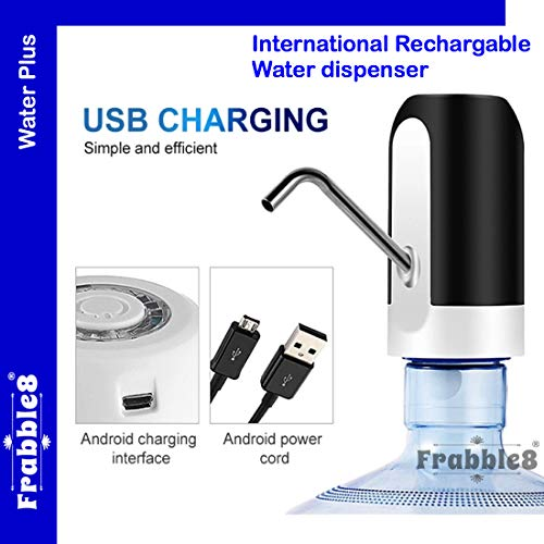 Frabble8 Automatic Wireless Water Can Dispenser Pump with Rechargeable Battery for 20 Litre Bottle Bisleri