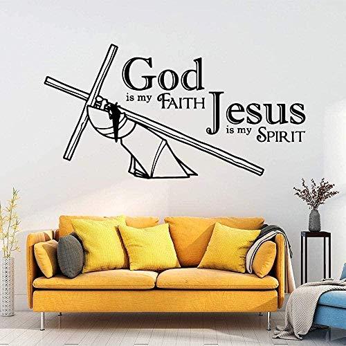 Etiqueta de la pared de PVC extraíble calcomanía de pared diseño personalizado Jesús Dios moderno calcomanía de moda habitación de bebé 42cmX81cm