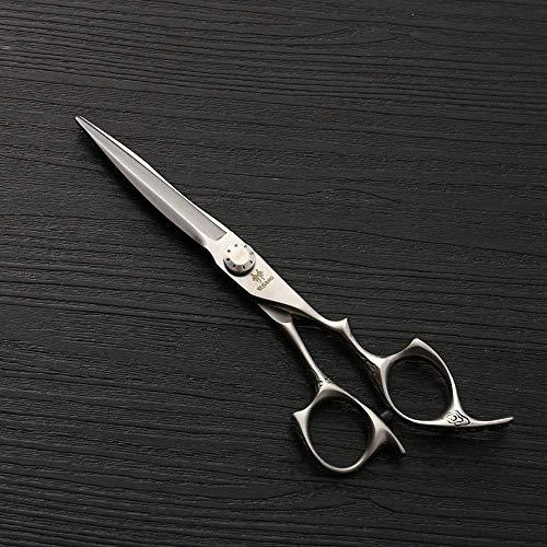 ZHANGYY Ciseaux de Coiffure en Acier Inoxydable de 6 Pouces, Coupe de Cheveux spéciale Ciseaux Plats Ciseaux Plats Outils de Coiffure (Couleur: Argent)