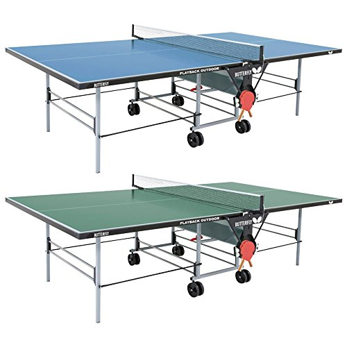 Butterfly Playback Rollaway Outdoor Ping Pong Table | Rolling Outdoor Table Tennis...