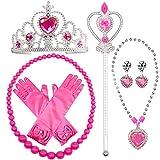 MMTX Princesa Dressing Up Costume Accessories 6 Piezas Set de Regalo para Princesa Cosplay Guantes Tiara Wand and Necklace