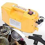 Haushaltsgeräte - Limpiador a vapor de mano de alta presión (220 V, 2600 W, 300-350 kPa), color amarillo (Sin CR2032 electromagnético)