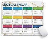 YTMYAN 2021 Calendar Mouse Pad Rectangle Gaming Non Slip Rubber Backing Mousepad-Green Garbling