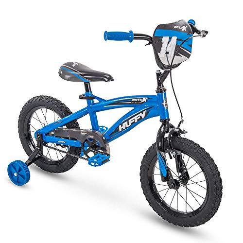 Huffy Bicycle Company Kids Bike, MotoX, Quick Connect, 14' Gloss Blue