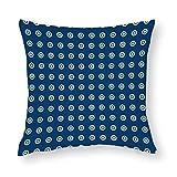 Sashiko Dots Cotton Throw Pillow Covers Case Cushion Pillowcase with Hidden Zipper Closure for Sofa Bench Bed Home Decor 18'x18'