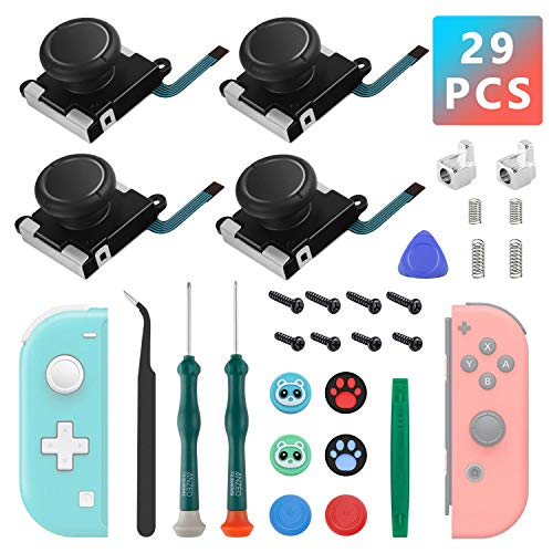 4 Joysticks Joycon, Joysticks de Reemplazo Para Nintendo Switch Joycon y Switch Lite, El Kit de Reparación de Reemplazo de Switch Joycon Incluye Hebilla de Metal, Destornillador,...