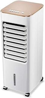 XYSoeMY Enfriador de Aire, Velocidad del Ventilador 3, 5 litros de Aire Acondicionado móvil con la Rueda Universal, Suelo Ventilador para Home Office (Blanco)