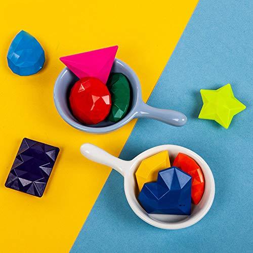 Achicoo, 9 Farben, magische Pastellkreide, Diamant-Schmuckform, sicher, ungiftig, zertifiziertes Spielzeug, Früherziehung, Pastell-Set