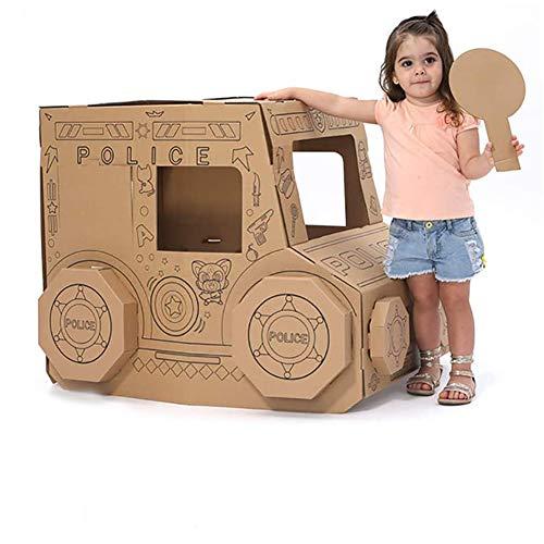 STKASE Casa De Juegos De Cartón Princesa Casa De Cartón para Pintar Casa Juguete De Cartón,Casa De Juguete De Cárton para Exteriores