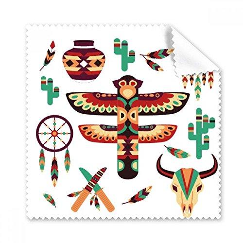 Native American Dream Catcher aardewerk Indiase Totem offer bril doek reinigingsdoek Gift Telefoon Screen Cleaner 5 stks