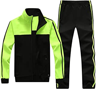 Running Jogging Sports Zip Up Tracksuit Casual Sweat Suit for Men & Women