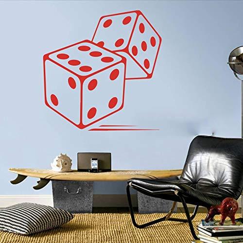 Grote rollende dobbelstenen bordspel muurstickers slaapkamer speelkamer dobbelstenen spel muur sticker speelkamer vinyl huisdecoratie 48x48cm