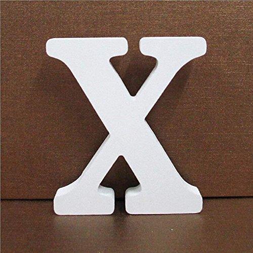 Gspirit Decorativo De Madera Letras, Pared Letras 26 Letras Madera Alfabeto para Niños Bebé Nombre Cumpleaños Fiesta Boda Casa Decoración (X)