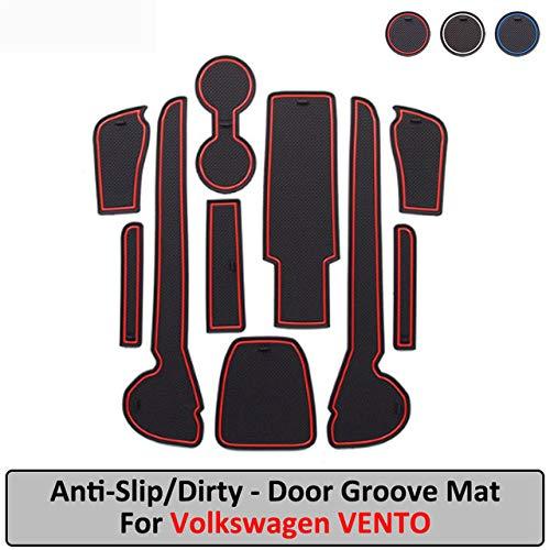 JXSMDNB Deurmat, binnenaccessoires, antislip, mat, gate slot, coaster, auto-interieur, gelpad rubber, mat Volkswagen Vento.