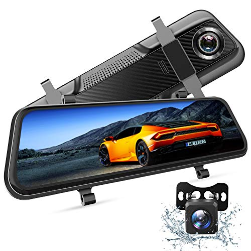 VanTop H609 Dashcam Rückspiegel, FHD 1080P Dashcam Auto vorne hinten, mit 10