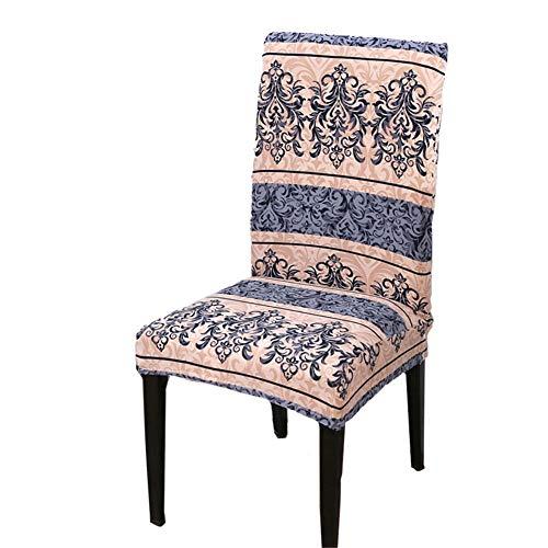 Fundas universales para sillas de comedor, modernas y elásticas, de una sola pieza, fundas protectoras para sillas de comedor extraíbles y lavables. (1-39, 2 piezas)