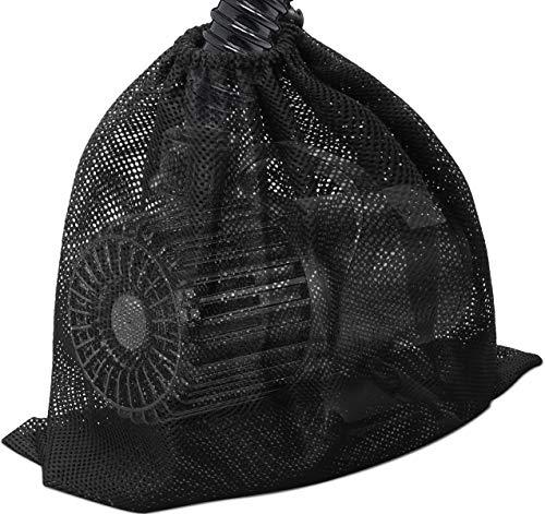 """Large Pump Barrier Bag, 17.3""""x 17.3"""" Pond Pump Filter Bag, Black Media Bag Large Pump Mesh Bag for Pond Biological Filters(Black) - By Coolrunner"""
