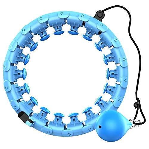 SDFLK Hula Hoop Reifen mit Kugel Gewicht und Breite Einstellbar Nicht Fallend Fitnessreifen Massage-Noppen für Erwachsene und Kinder zum abnehmen Gewichtsreduktion Fitness