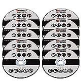Set di 10 dischi da taglio, adatto per smerigliatrice angolare Parkside PWSA 12 Li A1 297696