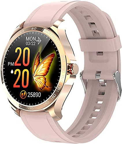 Smart Watch para teléfonos IOS de Android, Pulsera del deporte con seguimiento de salud femenino y monitor de ritmo cardíaco y saturación de oxígeno en la sangre y presión arterial, rastreador de fitn
