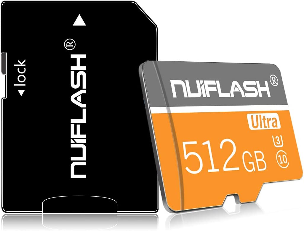 512GB Micro SD Card Class 10 512GB Memory Card High Speed 512GB TF Card with a SD Card Adapter for Android Galaxy Smart-Phone,Camera,PC,Mac