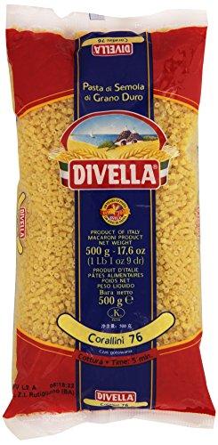 Divella - Corallini 76, Pasta di Semola di Grano Duro , 500 g