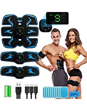 PiAEK EMS Muscle Stimulator Spier Toner Abs Trainer Fitness USB Oplaadbaar voor Unisex