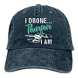 Unisex Popular Denim Cap I Drone Por lo tanto soy adulto camionero sombrero Vintage ajustable béisbol gorras