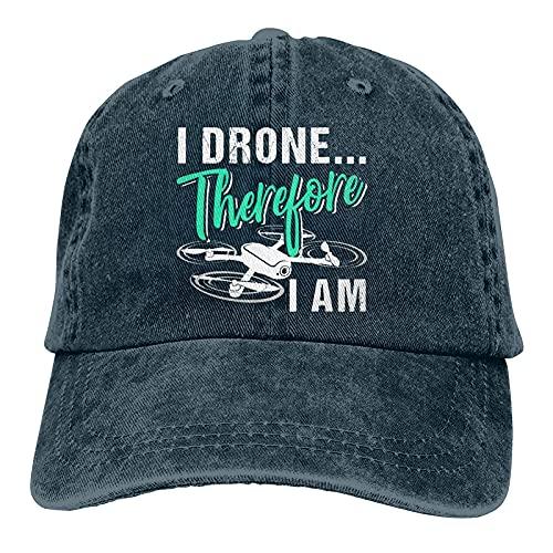Unisex Popolare Denim Cap I Drone Pertanto Sono Adulto Trucker Cappello Vintage Regolabile Baseball Caps