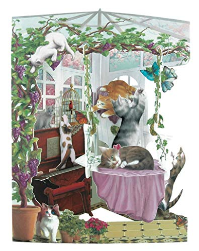 Santoro Interactive 3D Conservatory Cats Greeting Card