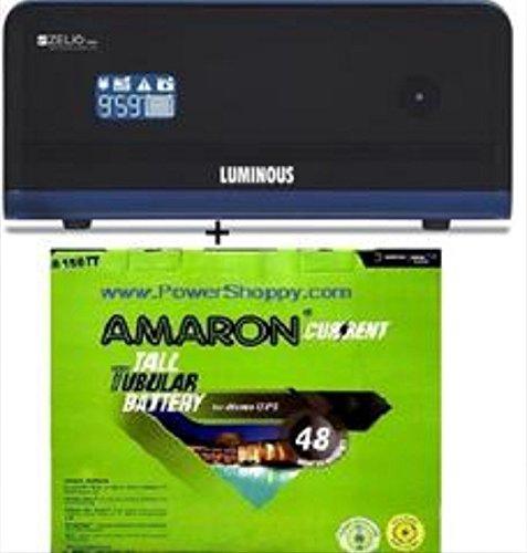 Amaron/ Luminous Cr 150 Tt Zelio 1100 (Ultra Low Maintenance Combo)
