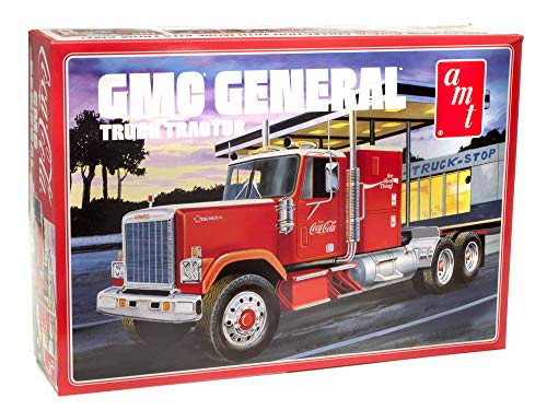 AMT 1976 GMC General Semi Truck Coca Cola Edition 1/25 Scale Model Big Rig Hauler Model Kit