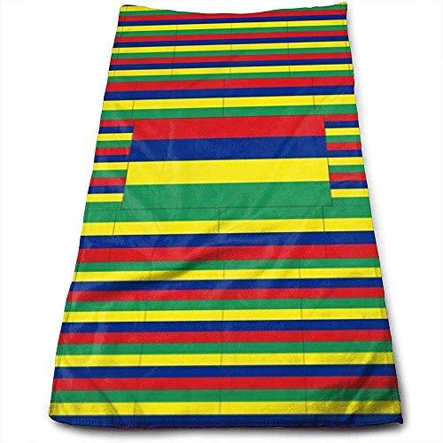 Handtücher Mauritius Flag Hochabsorbierende, schnell trocknende Handtücher für Handgesicht, Fitnessstudio und Spa 30 * 70 cm