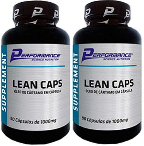 Óleo de Cartamo Lean Caps 1g Sem Hexanos Performance Nutrition 90 Softgel Kit 2 Und