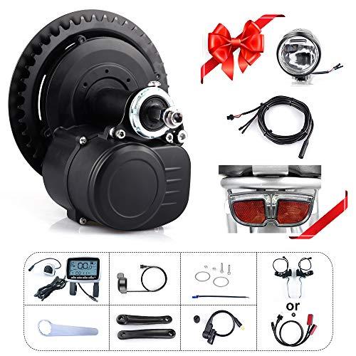 TongSheng TSDZ2 36V 250W 350W 48V 500W Torque Sensored Bricolage eBike Mid Drive Kit Moteur manivelle vélo électrique Kit de Conversion de Moteur Central avec 36V/48V Batterie
