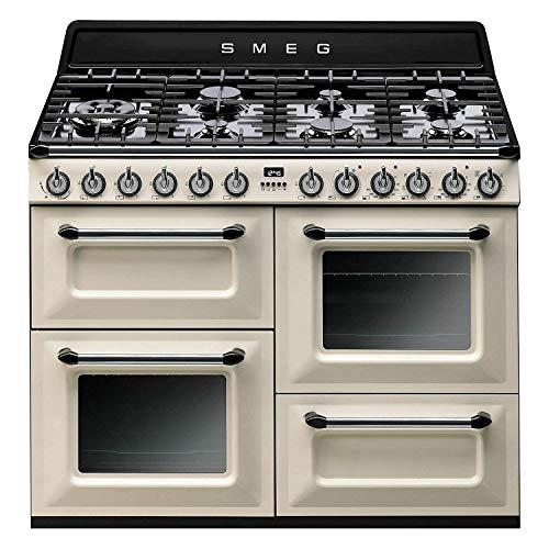 Piano de cuisson Smeg TR4110P1 - Crème - Classe énergétique A / Plaque Gaz / Four Electrique Multifonction - Vapor Clean - Porte tempérée