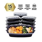 Cubeware 15-Pack Snap-Seal, Microwavable, Dishwasher and Freezer Safe, Reusable Food Storage Bento...