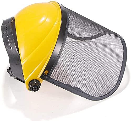 Casco de Motosierra con protección Facial Protector Solar Casco Protección Facial Malla para Proteger los bosques Evolutions
