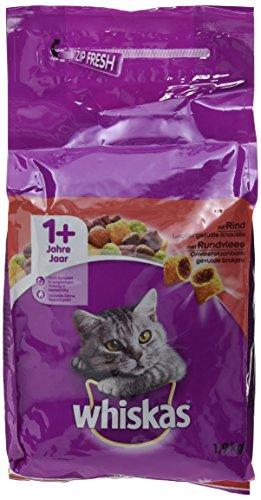 Whiskas 1+ Katzenfutter Rind, 2er Pack (2 x 1.9 kg)