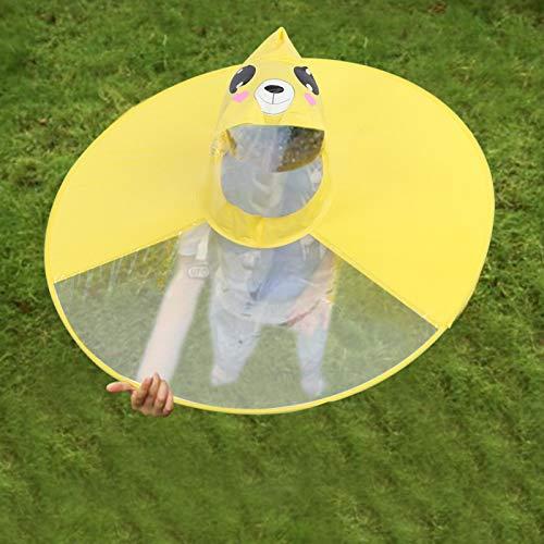 Sombrero de paraguas con capucha Insípido Chubasquero para niños PVC plegable para...