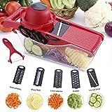 Mandolina de cocina - 5 en 1Cortador de Verduras Vegetable Slicer Multi, rallador mandolina...