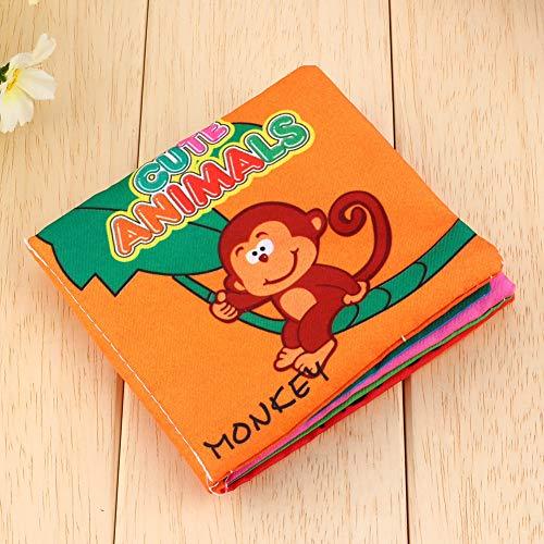 Centros de juego de actividades para bebés, primeros libros de animales de tela suave para bebés con pintura colorida y duradera, perfectos para bebés Desarrollo inteligente temprano Aprendizaje Jugue